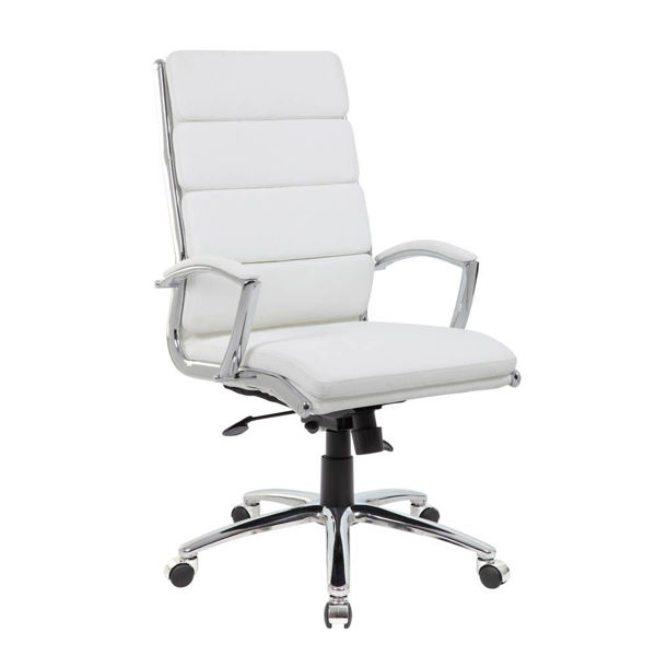 Picture of Marble Desk Chair - White