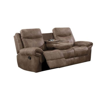 Nashville Reclining Sofa With Drop Down Tray And USB
