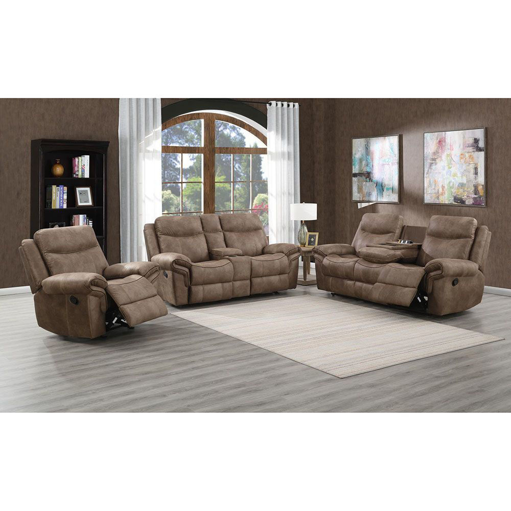 Nashville Reclining Sofa With Drop Down Tray And USB - Lifestyle