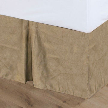 Picture of Tan Suede Bedskirt - Queen