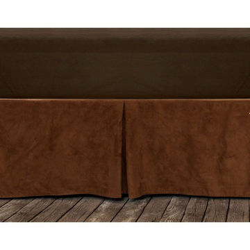 Picture of Copper Microfiber Suede Bedskirt - Queen