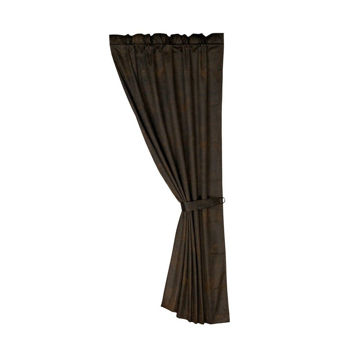 Picture of Chocolate Faux Leather Curtain