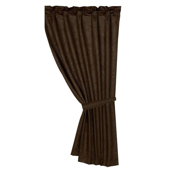 Picture of Chocolate Tooled Leather Curtain