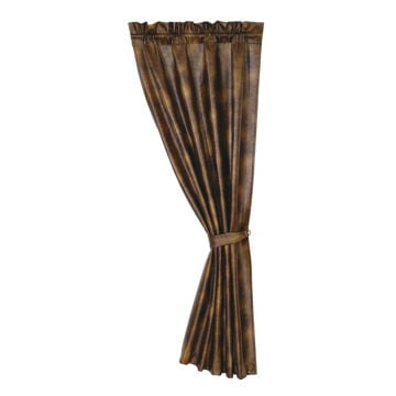 Picture of Brown Faux Leather Curtain
