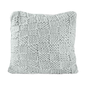 Picture of Chess Knit Euro Sham - Gray