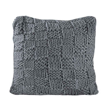 Picture of Chess Knit Euro Sham - Slate