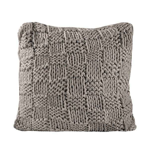 Picture of Chess Knit Euro Sham - Taupe