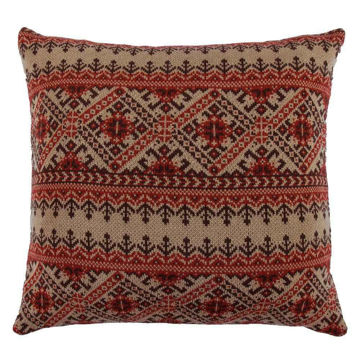 Picture of Fair Isle Knit Euro Sham - Brown
