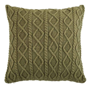 Picture of Cable Knit Euro Sham - Green