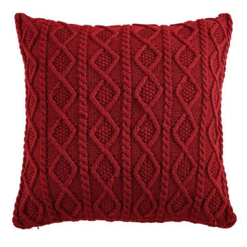 Picture of Cable Knit Euro Sham - Red