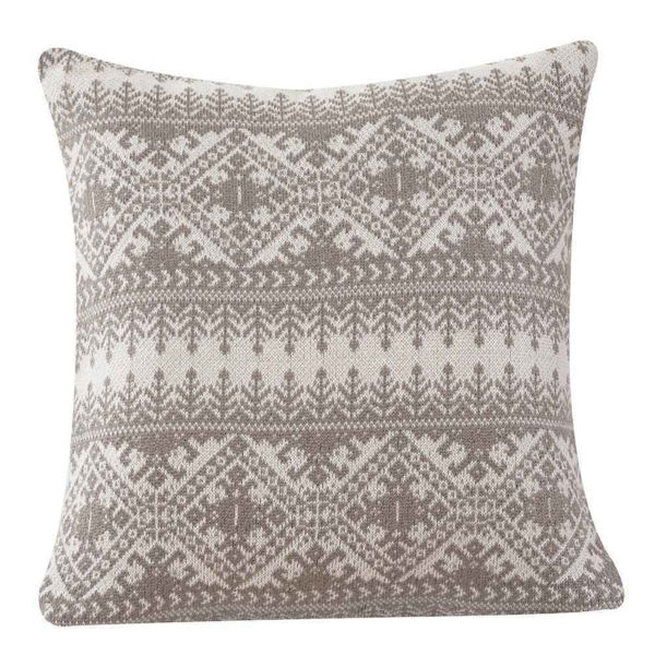 Picture of Fair Isle Knit Euro Sham - Taupe