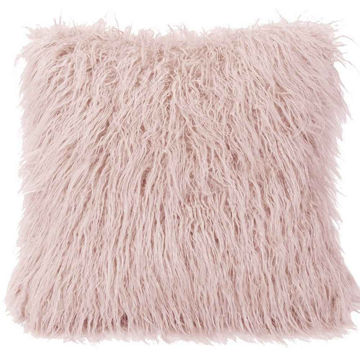 Picture of Mongolian Fur Euro Sham - Blush