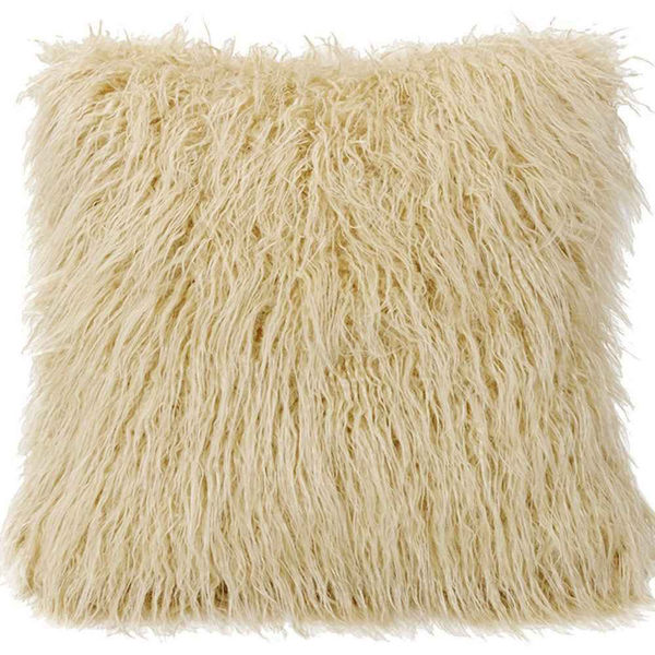 Picture of Mongolian Faux Fur Cushion Cover - Cream