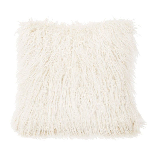 Picture of Mongolian Faux Fur Cushion Cover - White