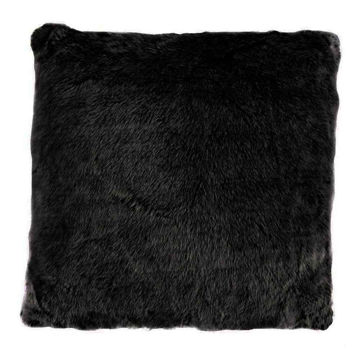 Picture of Arctic Bear Mink Euro Sham - Black