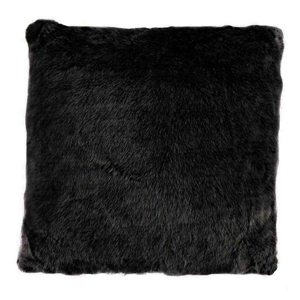 Picture of Arctic Bear Mink Euro Sham - Black