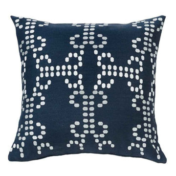 Picture of Kavali Navy Linen Deco Pillow