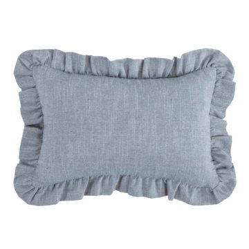 Picture of Chambray Ruffled Pillow