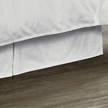 Picture of Madison Tailored Linen Bedskirt - White - Queen