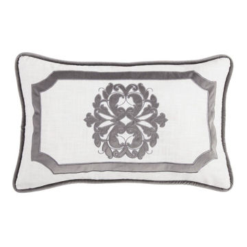 Picture of Madison Oblong Linen Pillow - Gray