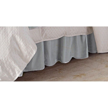 Picture of Belle Gatherer Velvet Bedskirt - King