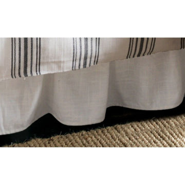 Picture of Blackberry Gathered White Linen Bedskirt - King