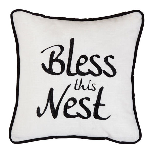 Picture of Blackberry Bless The Nest Embroidery Pillow