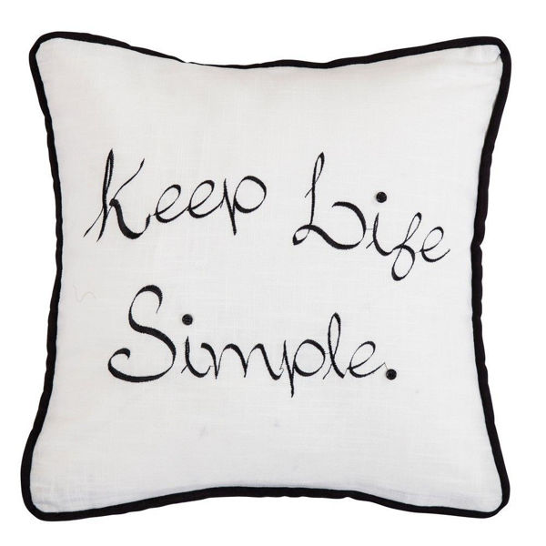 Picture of Blackberry Keep Life Simple Embroidery Pillow