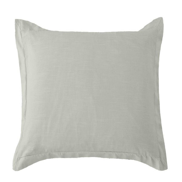Picture of Luna Washed Linen Tailored Euro Sham - Gray