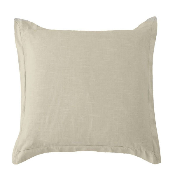 Picture of Luna Washed Linen Tailored Euro Sham - Tan
