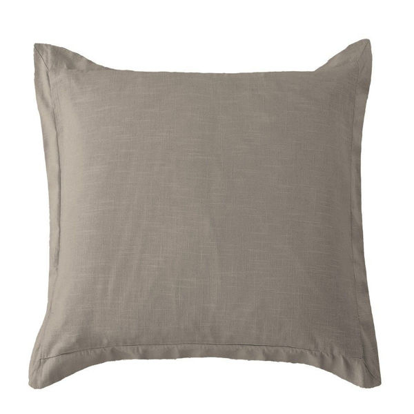 Picture of Luna Washed Linen Tailored Euro Sham - Taupe