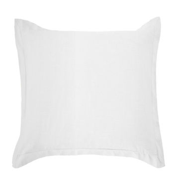 Picture of Luna Washed Linen Tailored Euro Sham - White