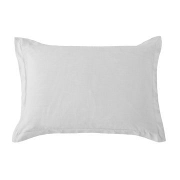 Picture of Hera Washed Linen Tailored Sham - Gray - King