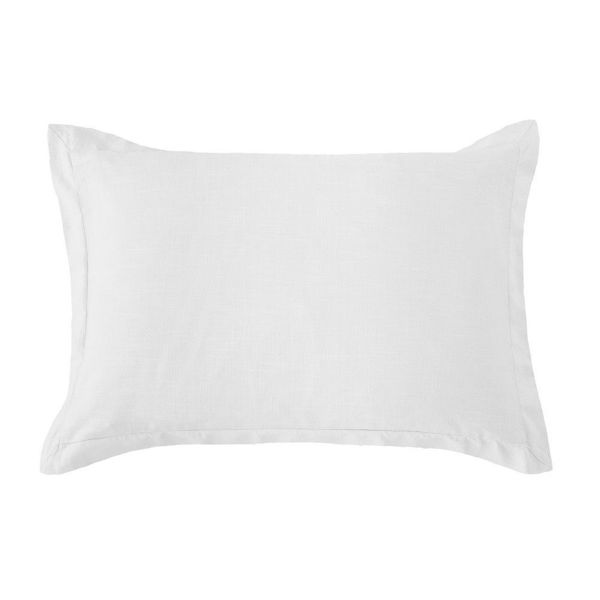 Picture of Hera Washed Linen Tailored Sham - White - King