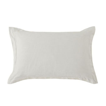 Picture of Hera Washed Linen Tailored Sham - Gray - Standard