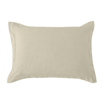 Picture of Hera Washed Linen Tailored Sham - Tan - Standard