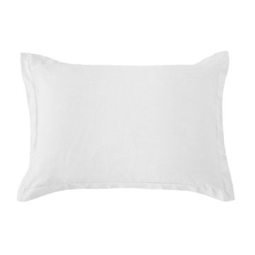 Picture of Hera Washed Linen Tailored Sham - White - Standard