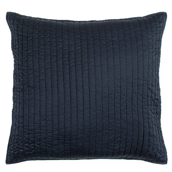 Picture of Satin Quilted Euro Sham - Blue