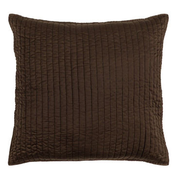 Picture of Satin Quilted Euro Sham - Chocolate