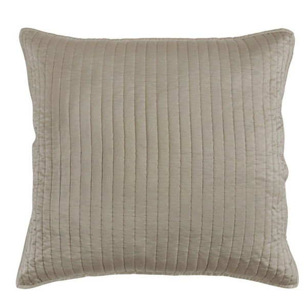 Picture of Satin Quilted Euro Sham - Taupe