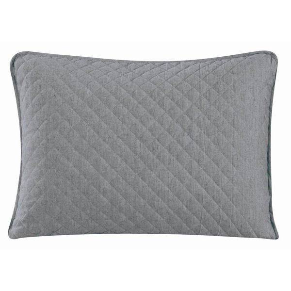 Picture of Anna Standard Sham Pair - Gray