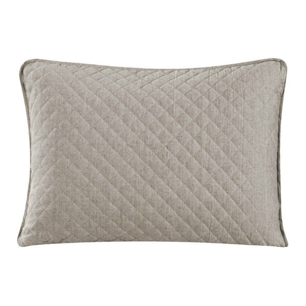 Picture of Anna Standard Sham Pair - Taupe