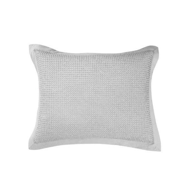 Picture of Waffle Weave Waffle Weave Sham - Pair - Gray - Kin