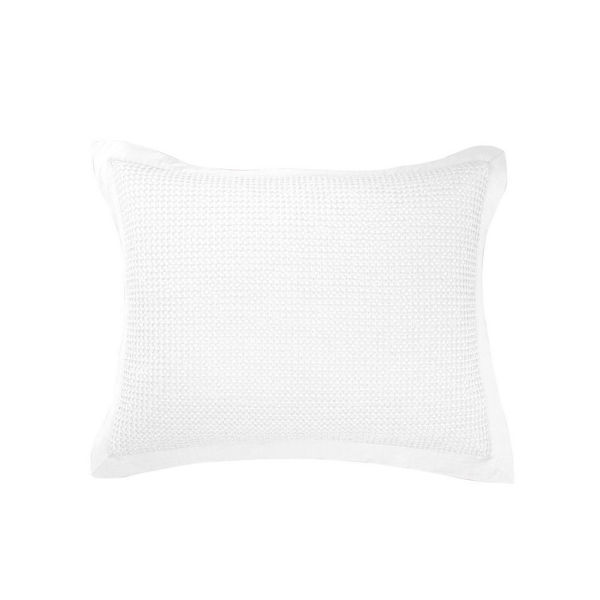 Picture of Waffle Weave Waffle Weave Sham - Pair - White - St
