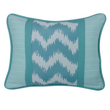 Picture of Chevron Blue Stripe Pillow
