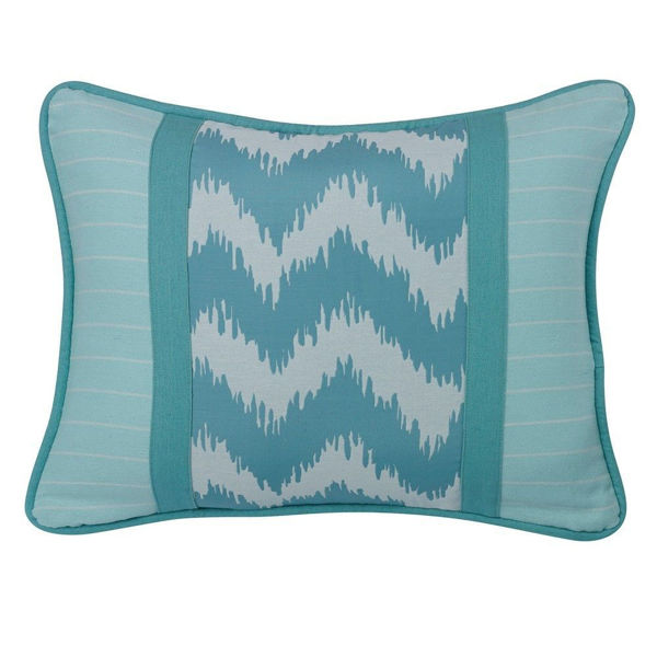 Picture of Chevron Blue Stripe Pillow