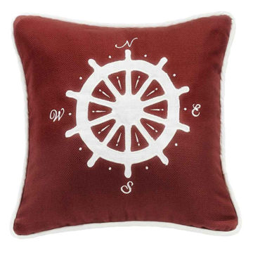 Picture of Nautical Compass Embroidery Pillow