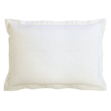 Picture of Charlotte White Linen Sham - 34