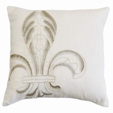 Picture of Newport Embroidery Fleur De Lis Pillow