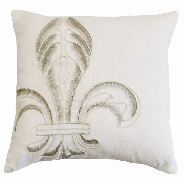 Picture of Newport Embroidery Fleur De Lis Pillow